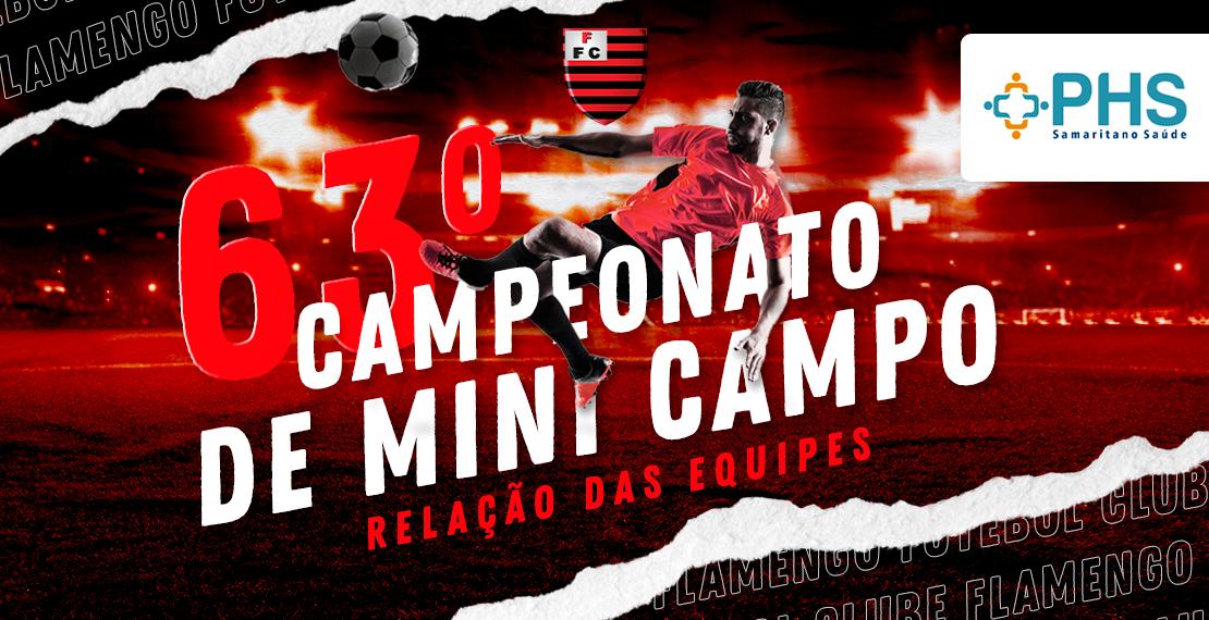 Relação Equipes 63º Campeonato Mini Campo PHS Samaritano 2021